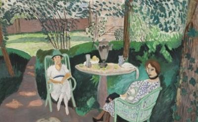 (detail) Henri Matisse, Tea in the Garden, 1919, Oil on canvas, 55 1/4 x 83 1/4