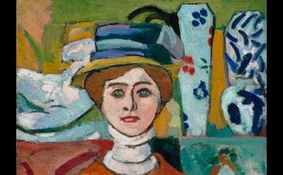 (detail) Henri Matisse, La fille aux yeux verts, 1908 (collection SFMOMA, © Succ
