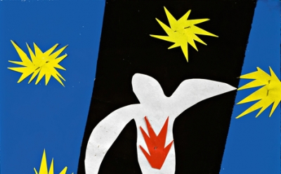 (detail) Henri Matisse, The Fall of Icarus, 1947 (Henri Matisse/DACS 2014)