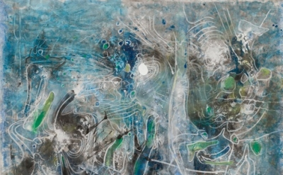 Roberto Matta, Mar de madres (océano prenatal): eau de mère, 1989  oil on canvas