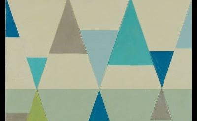 (detail) Joanne Mattera, Chromatic Geometry 3, 2013, encaustic on panel, 12 x 12