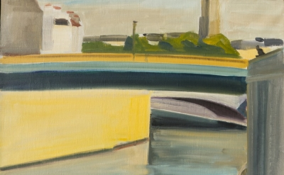 Louisa Matthiasdottir, Paris Series, Yellow, c.1978, oil on linen, 14 1/4h x 19w inches