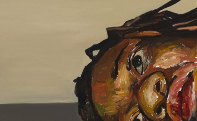(detail) Beverly McIver, Depression, 2010, oil on canvas (collection of the arti