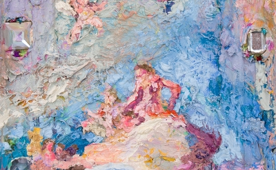 (detail) Annelie McKenzie, Bejeweled Tiepolo with Barrettes, 2014 (courtesy of C