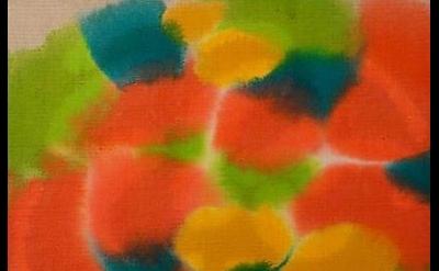 (detail) Saira McLaren, untitled, 2013, acrylic dye on raw linen, 16 x 20 inches