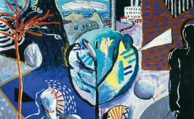 (detail) Caroline McNairn, In the Making, 1987, 182.9 x 182.9 cm (City of Edinbu
