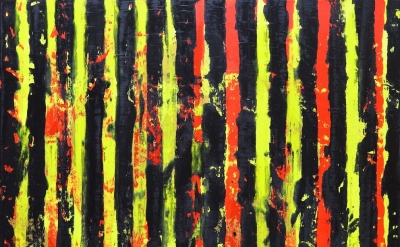 (detail) Dale McNeil, Interference (with appearance of Au) v.1, oil on canvas, 2