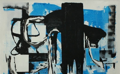 (detail) Andrea Medjesi–Jones, 2011, No More, acrylic and pigment on canvas, 170
