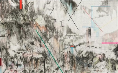 Julie Mehretu, Co-Evolution of the Futurrhyth Machine (After Kodwo Eshun), 2013,