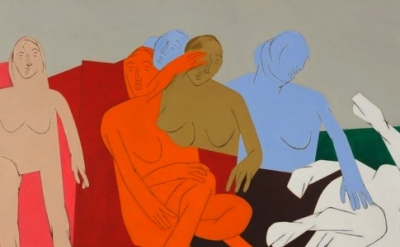 (detail) Tyeb Mehta, Sequence, 1981, oil on canvas (courtesy of the Peabody Esse