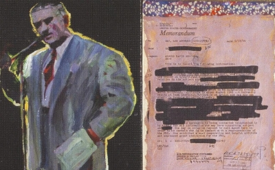 (detail) Arnold Mesches, The FBI Files 33,  2002 (courtesy of the artist and Lif