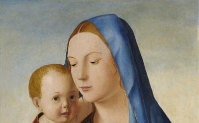 (detail) Antonello da Messina, Madonna con bambino (Madonna Benson). National Ga