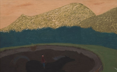 Sally Michel, At a Gallop, 18 x 24 inches, 24 7/8 x 30 7/8 inches, oil on board