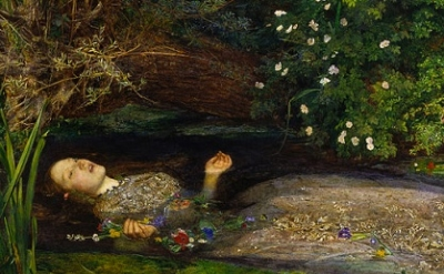 (detail) John Everett Millais, 1851–1852, oil on canvas, 76.2 cm × 111.8 cm, 30