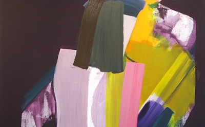 (detail) John Millei, Bathers, 2013, oil and flashe on canvas, 72 x 60 inches (c