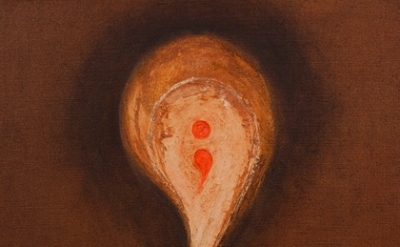 Mira Schor, Semi-colon in a Flesh Comma, 1993, Oil on linen