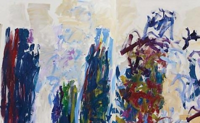 (detail) Joan Mitchell, Trees 1990-91, oil on canvas diptych, 94 1/2 x 157 1/2 i