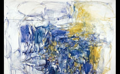 (detail) Joan Mitchell, Hudson River Day Line, 1955, oil paint on canvas, 79 × 8