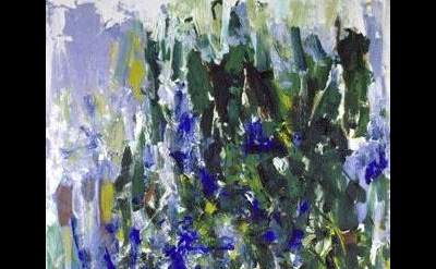 (detail) Joan Mitchell, Green Tree, 1976, oil on canvas, 110 x 71 inches (courte