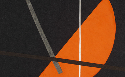 (detail) László Moholy-Nagy, Composition , n.d., ca. 1922-23, paper collage on p