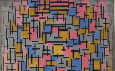 (detail) Piet Mondrian, Compositie, 1916, © 2013 Mondrian/Holtzman Trust, c/o HC