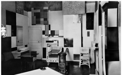 Piet Mondrian's studio at Rue du Départ, Paris, photographed by Paul Delbo April