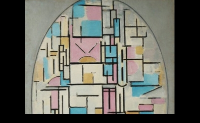 (detail) Piet Mondrian, Composition in Oval with Colored Planes, 1914, oil on ca
