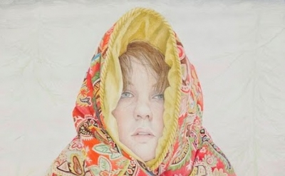 (detail) Rebecca Morgan, Depression Blanket, 2014, oil and graphite on panel, 28