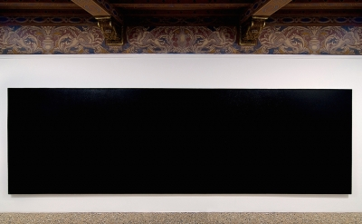 Installation view: Olivier Mosset exhibition at Indipendenza Studio in Rome, 201