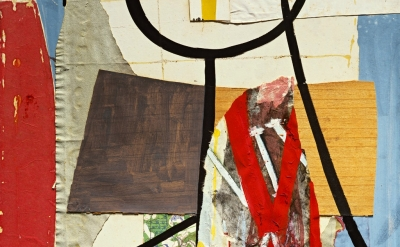 (detail) Robert Motherwell, View from a High Tower, 1944–45 (© Dedalus Foundatio