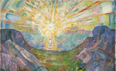 Edvard Munch, The Sun, 1910, Oil on canvas, 64 x 81 inches (Munch Museum)