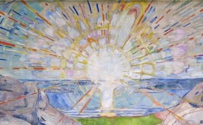 (detail) Edvard Munch, The Sun, 1911, Universitetet i Oslo, Aulaen (courtesy of