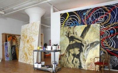 Nabil Nahas, Studio view (courtesy of the artist, photo BOMBLOG)