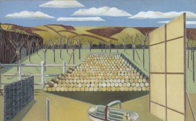 Paul Nash, Landscape at Iden, 1929, oil paint on canvas (collection & © Tate)