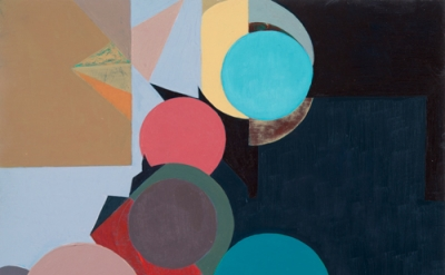 Mario Naves, Few and Far Between, 2011, acrylic and oil on canvas on wood, 12 x