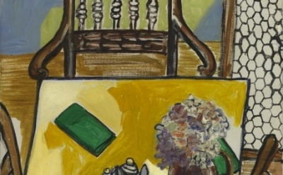 (detail) Alice Neel, Still Life (Breakfast Table), 1965, Oil on canvas, 30 x 24