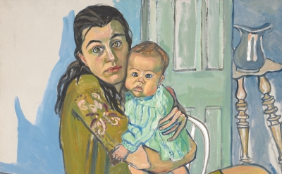 (detail) Alice Neel: Mother and Child (Nancy and Olivia), 1967 (collection of Diane and David Goldsmith)