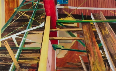 (detail) Laini Nemett, Streetcar Rafters on Newel, 2013 (courtesy of the artist)