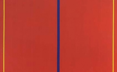(detail) Barnett Newman, Who's Afraid of Red, Yellow and Blue II 1967, acrylic o