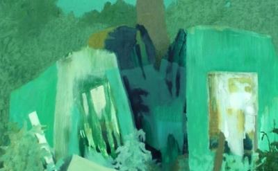 (detail) Joseph Noderer, Hark and You Will Hear, oil on panel, 2014 (courtesy of