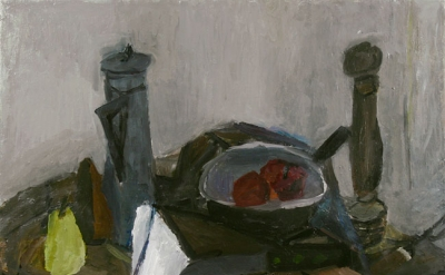 Janice Nowinski, Still Life with Fork, 24 x 28 inches, oil on linen 2010 (courte