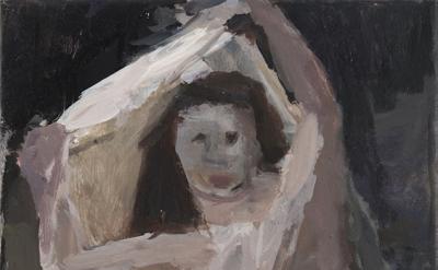 Janice Nowinski, Figure Revealed, 2016, oil on canvas, 14 x 11 inches (courtesy of John Davis Gallery)
