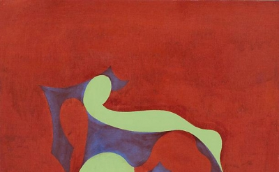 Thomas Nozkowski, Untitled (6-30), 1988, oil on canvas board, 16 x 20 inches (co