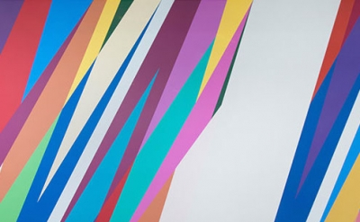 (detail) Installation view: Odili Donald Odita: The Velocity of Change at Jack S