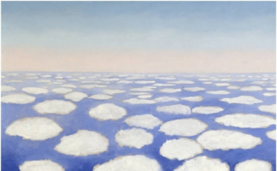 Georgia O'Keeffe, Sky Above Clouds I, 1963, Oil on canvas, 36 x 48 inches (Georg