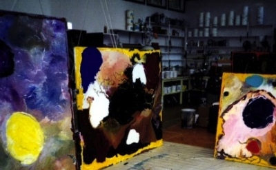 Studio of Jules Olitski, Screen capture, Jules Olitski: Modern Master, Museum of