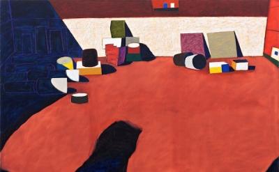 Paul Osipow, Olympia 6, 2012-2013, oil on canvas, 155 x 208 cm (courtesy of Gall