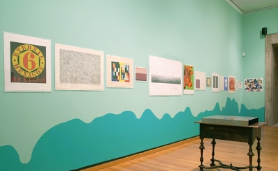 Installation of Carl Ostendarp: Fat Cakes at the Johnson Museum, Ithaca, NY 2012