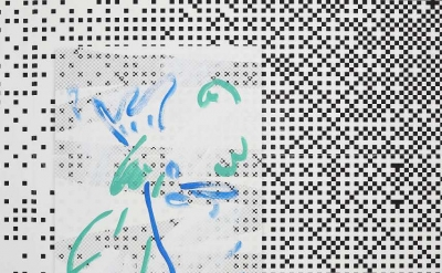 (detail) Laura Owens: Ten Paintings at CCA Wattis Institute