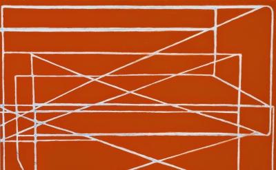 (detail) Paul Pagk, Untitled 'Red Desert,' 2013 - 2014, oil on linen 76  x 74 in